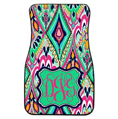 Lilly Pulitzer Crown Jewels Print Inspired Monogrammed Car