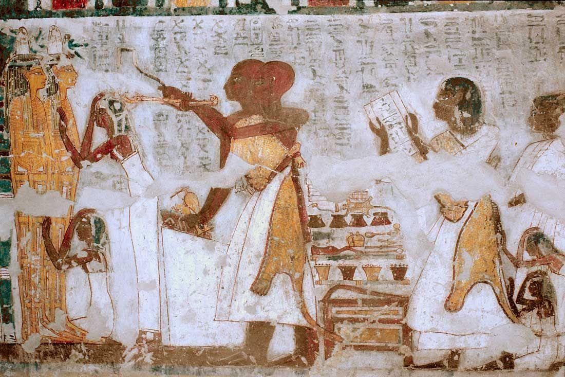 Tomb of Khonsu in Gourna. XIX Dynasty.