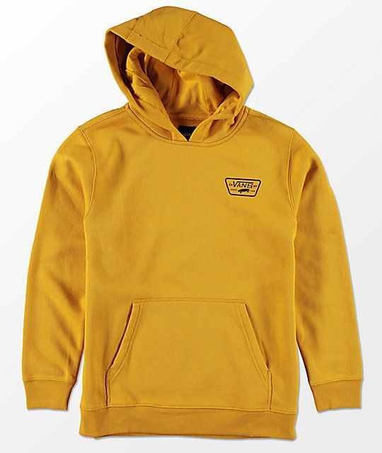 fe151ffedb82a9 Vans Boys Full Patched Yellow Hoodie in 2019