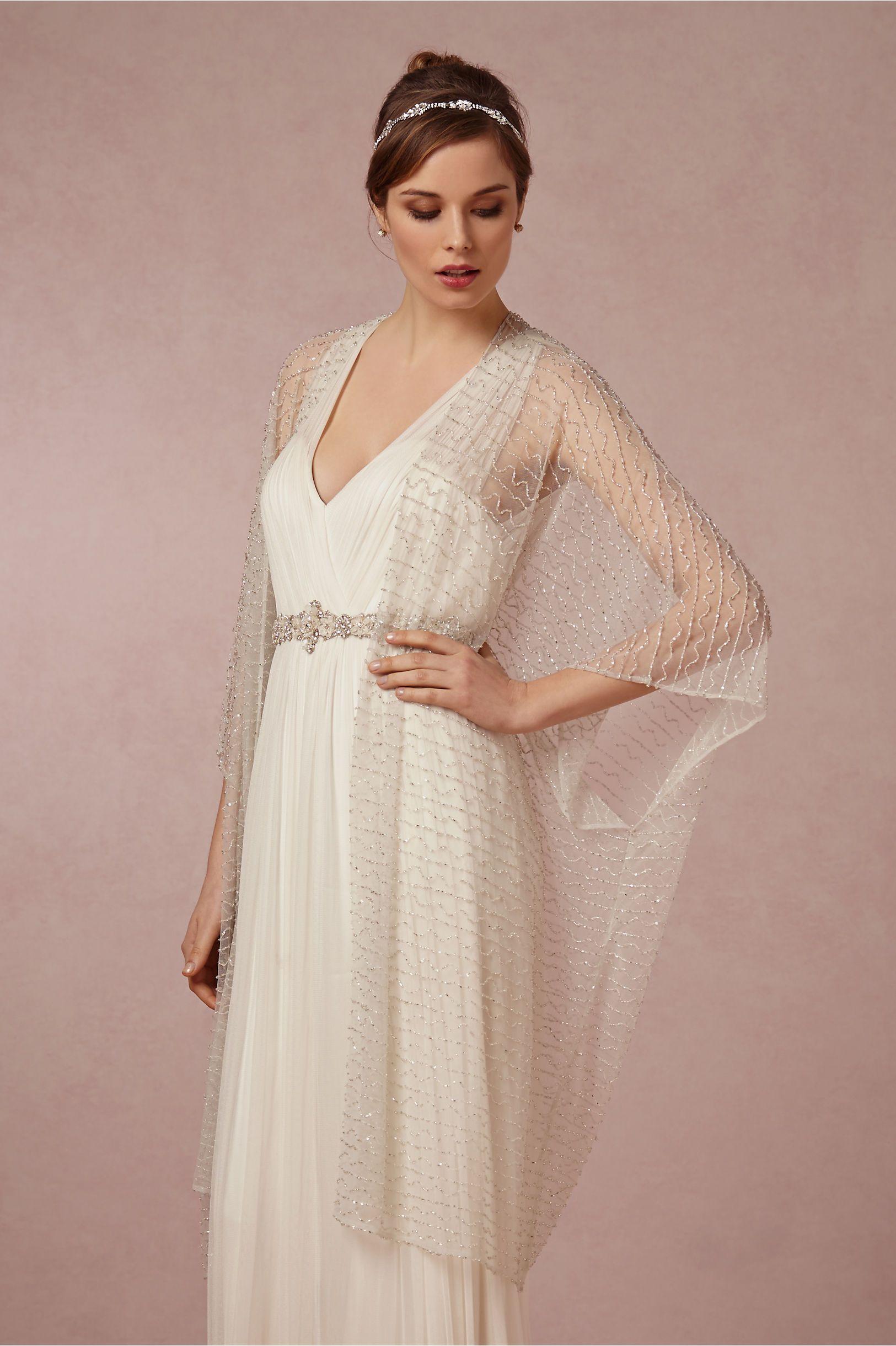 Wedding dress wrap  Bohème Wrap from BHLDN  Board   Pinterest  Wraps Wedding and