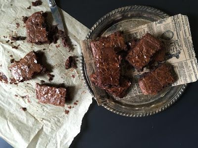 Chewy Gooey Cassava Brownies.  Photo by Alanna Figueira at Planks, Love & Guacamole.