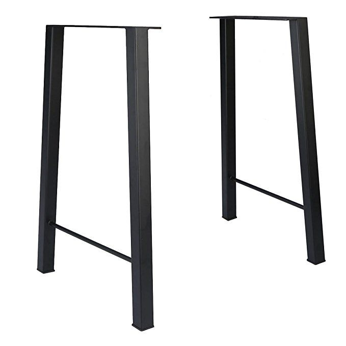 Tengchang 28u0027u0027 Industry Trapezoid Dinner Table Leg Metal Cast Iron Bench  Legs Set Of 2