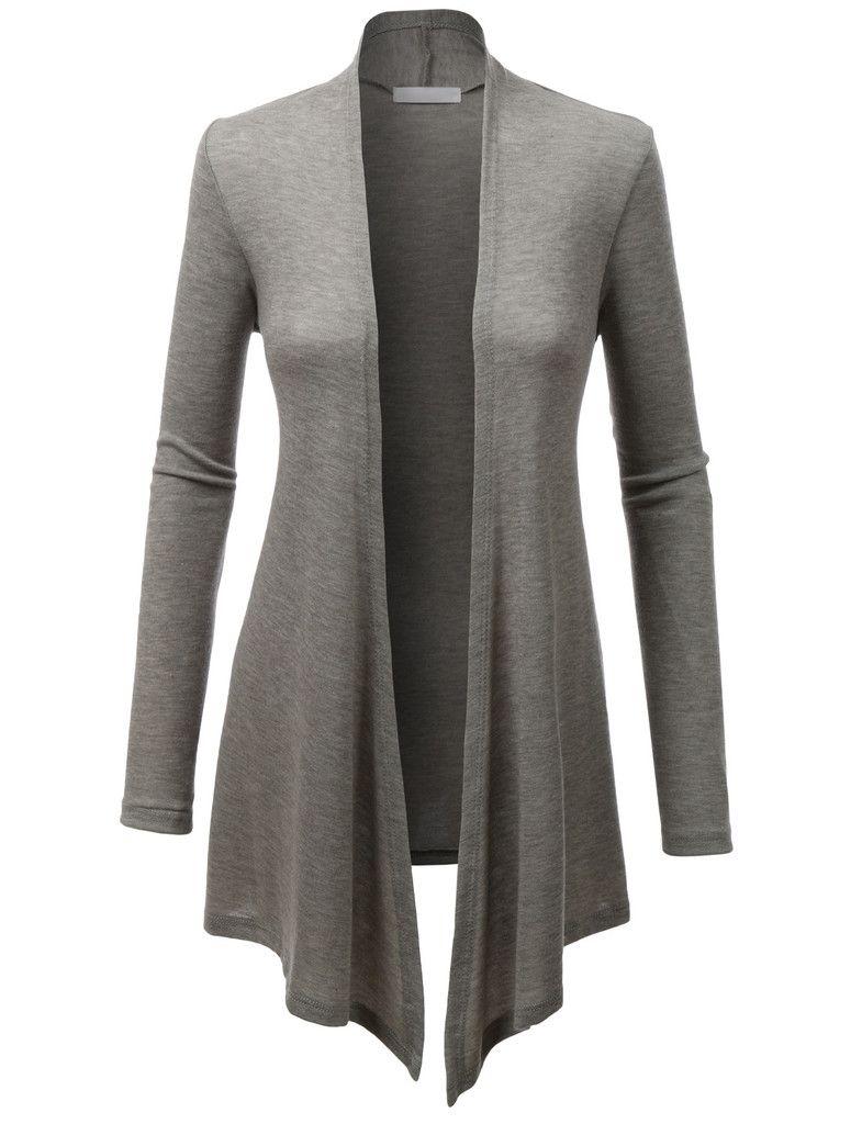 ec78cdde0 LE3NO Womens Long sleeve Open Knit Cardigan with Stretch Casaco Cardigan