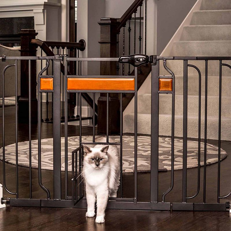 Carlson Home Accents Pet Gate with New Zealand Wood check