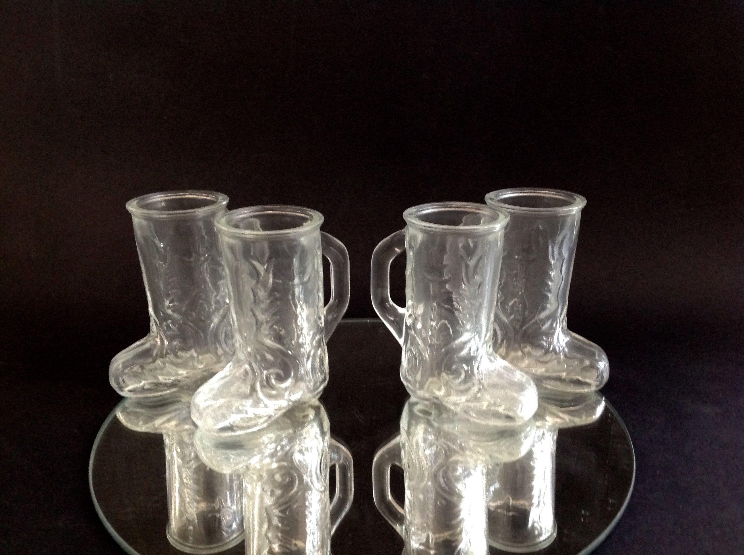 Vintage Cowboy Boot Shot Glasses Texas Gift Set