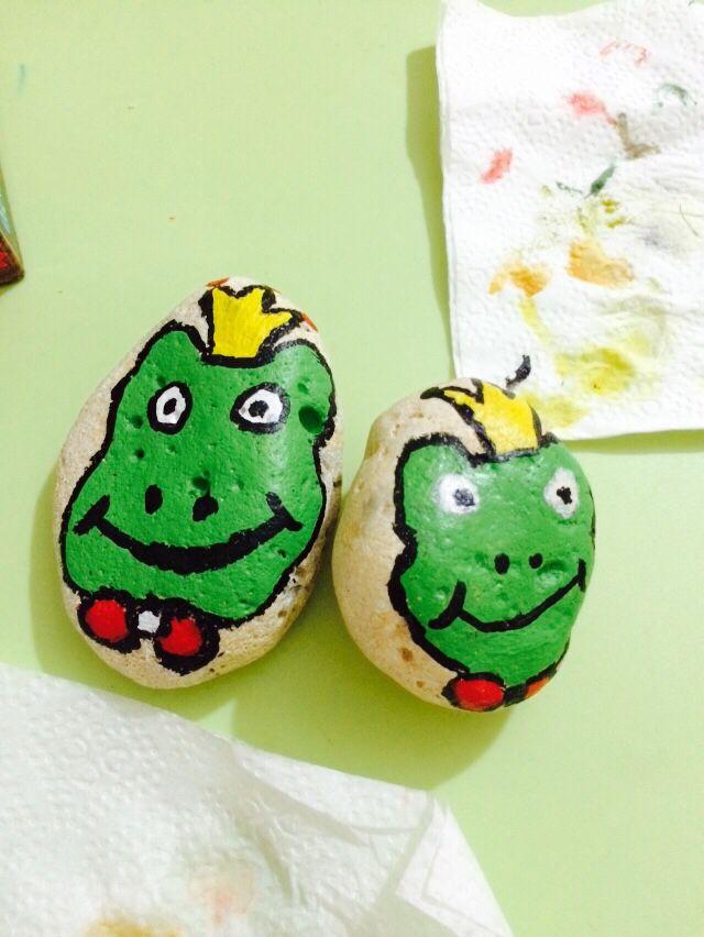 Taş Boyama Kurbağa Prens Kendi Yaptıklarım Painted Rocks Rock