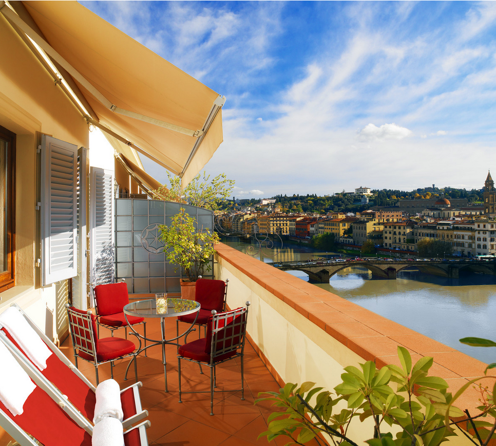 Views From Penthouse Terrace Westin Excelsior Florence