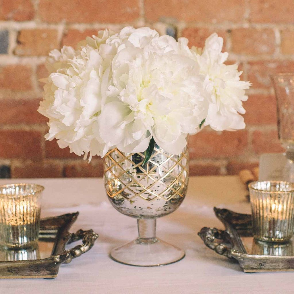 Mercury silver footed vase large mercury table decorations and mercury silver footed vase large wedding centrepieceswedding reviewsmspy