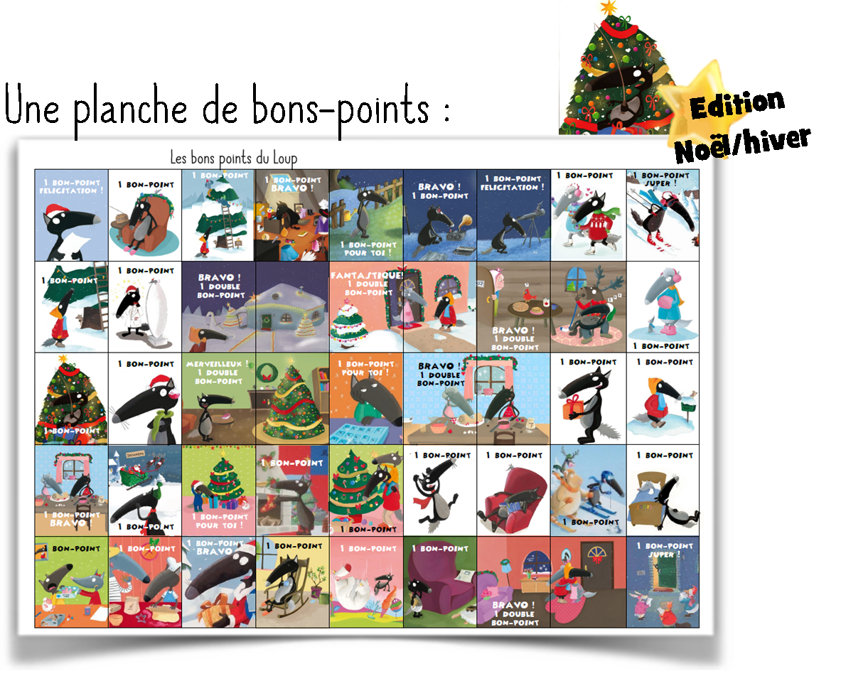 Bons points Loup | bons points | Pinterest