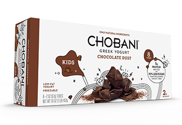 Chocolate Dust Chobani. Incredibly yummy. 60 calories. 6g sugar. 5 g protein. Tart and sweet, but not too sweet. Good job, Chobani! You can trust me with even less sugar if you'd like. Come on, America!