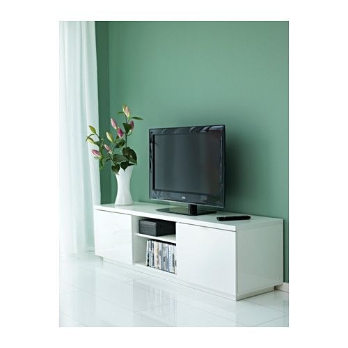 e96185714d1 BYÅS TV unit IKEA The open compartment has an adjustable shelf for your  media equiptment