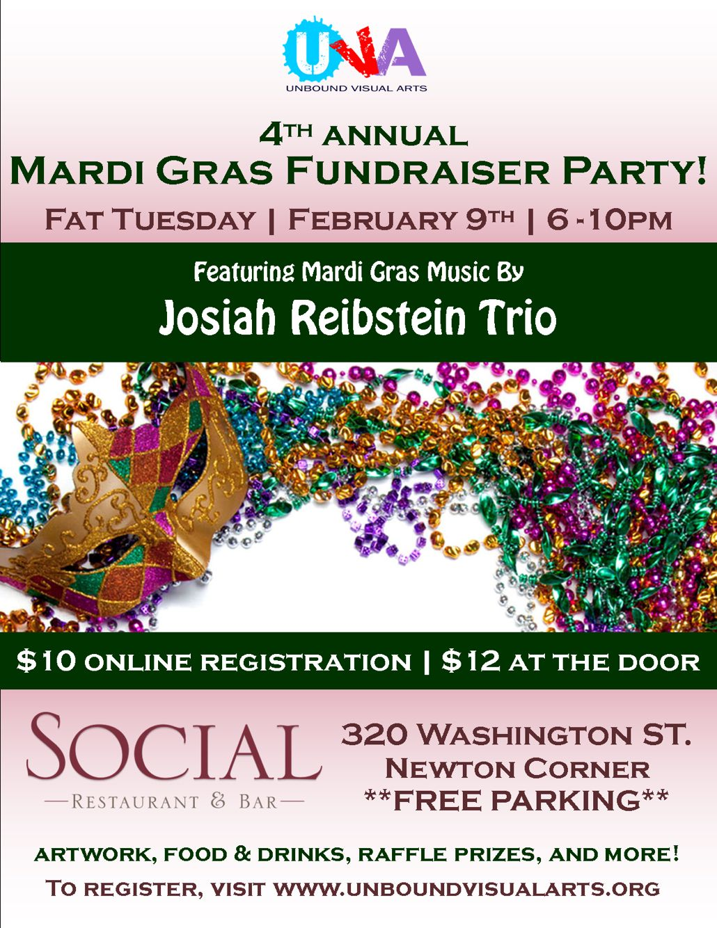 Mardi Gras and Carnival party on feb 9