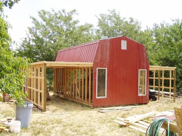 Easy Add On To Gambrel Roof Shed Gambrel Roof Shed With Porch