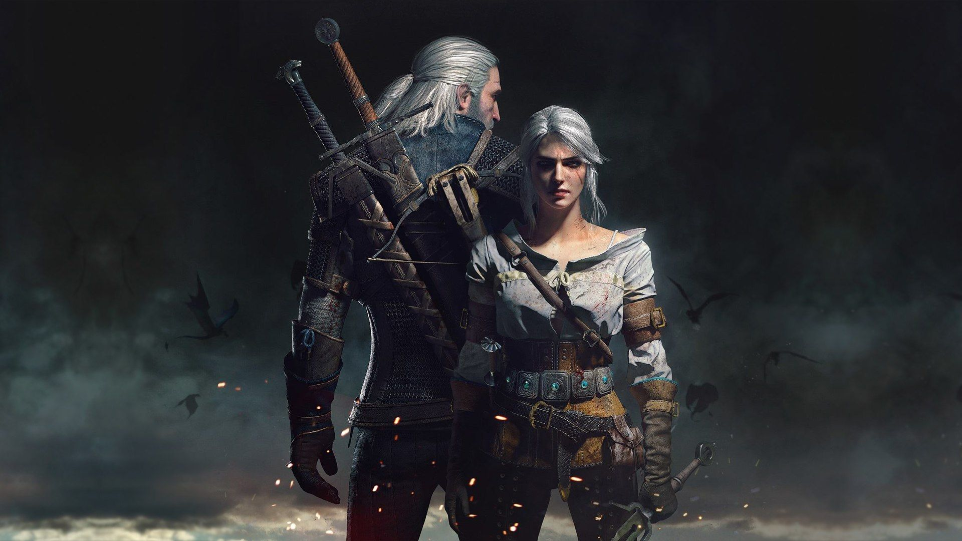 Wallpaper The Witcher 3 Wild Hunt Ciri Scar Overcast Spark