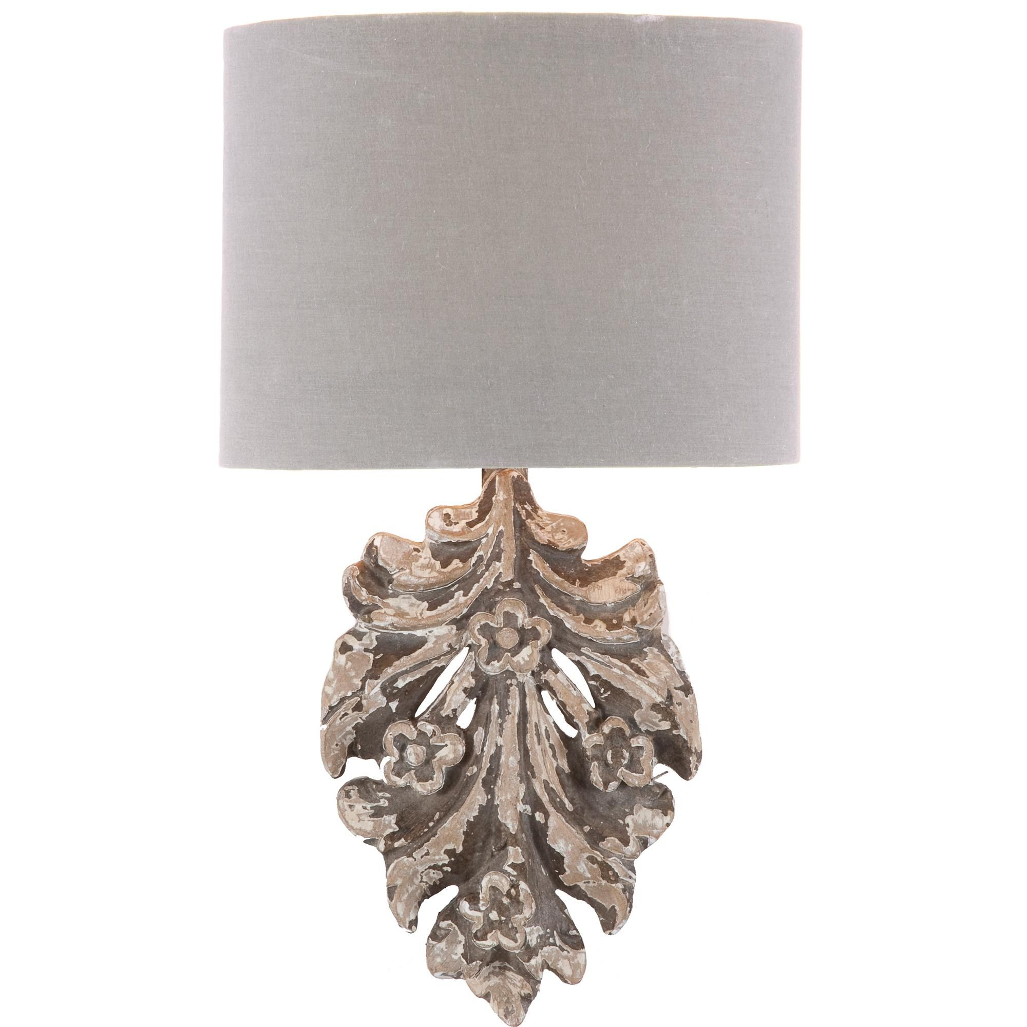 Aidan Gray Fleurette Floral Applique Wall Sconce | Hand carved, Wall ...