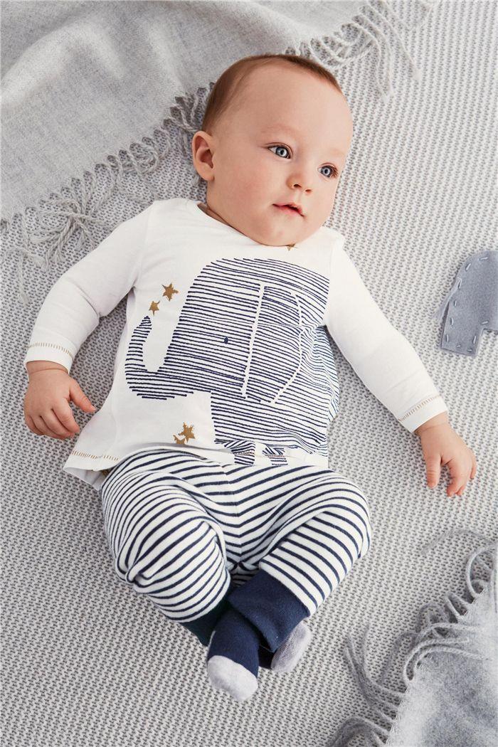 2016 Autumn Baby Boy Clothes Baby Clothing Baby Elephant Long Sleeve