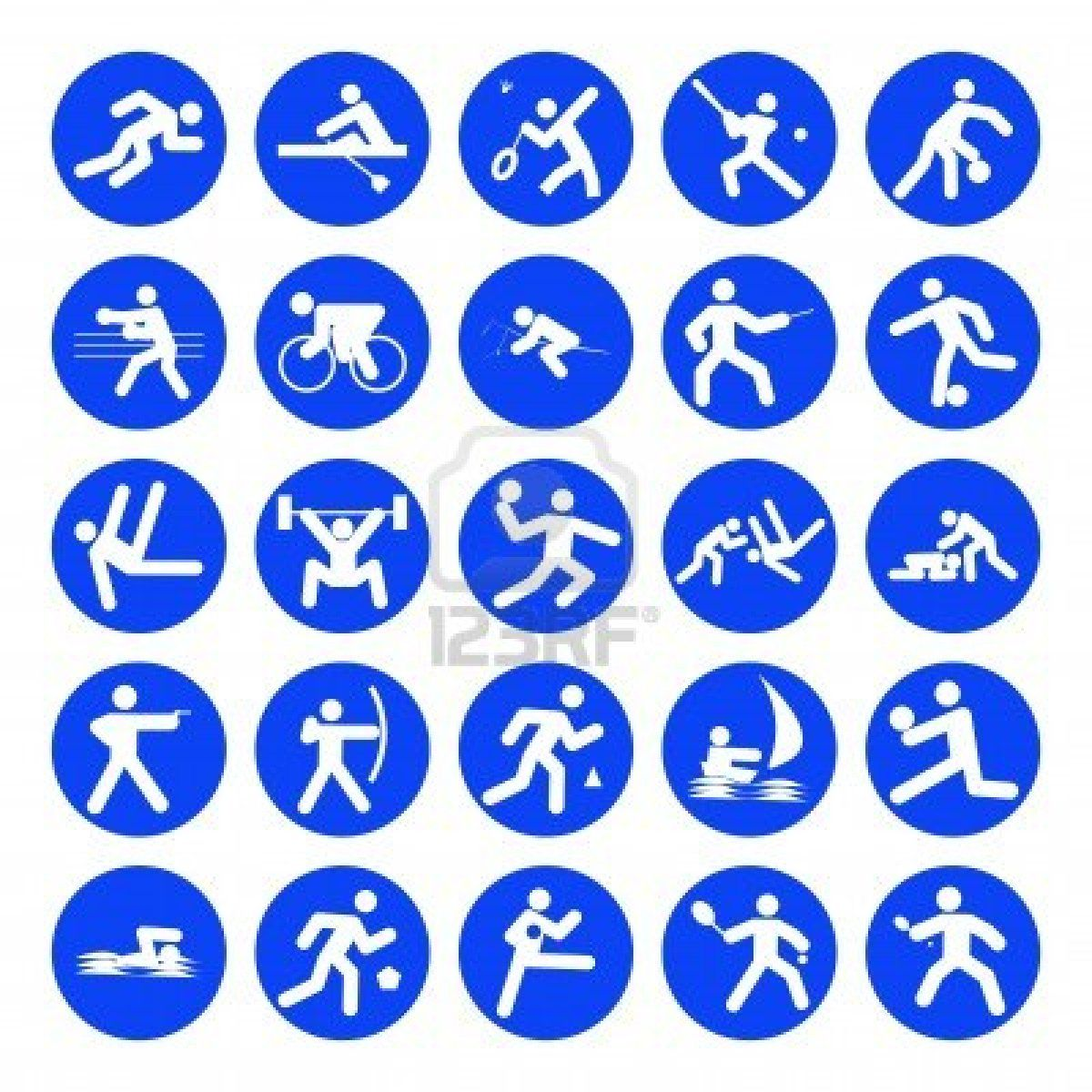 Logo S Van Sport Olympische Spelen Blauw Op Een Witte Achtergrond Olympische Sport Olympische Spelen Knutselen Sport