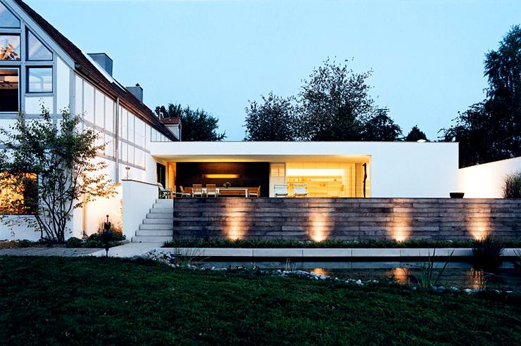 Modern Fachwerkhaus ebenerdiger anbau ans fachwerkhaus architecture