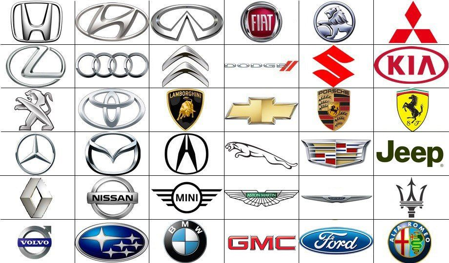 List Of Car Brands And Logos