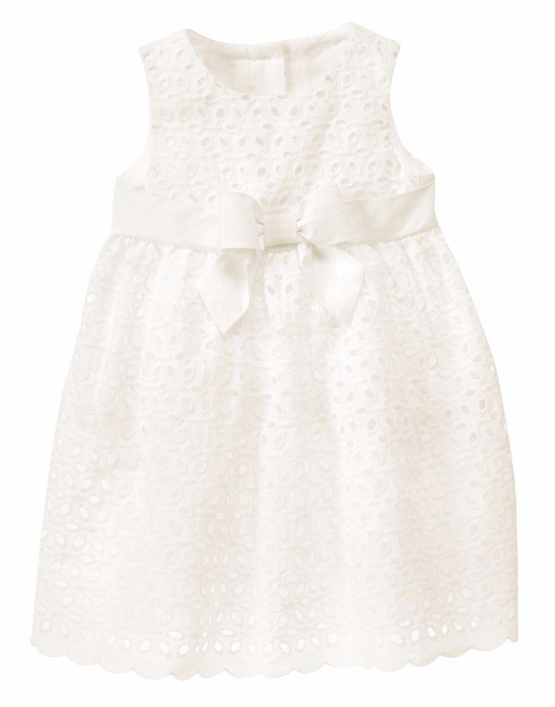 4c6d10ef4 Gymboree Girls 6-12M White Eyelet Dress Set NWT  40  Gymboree ...
