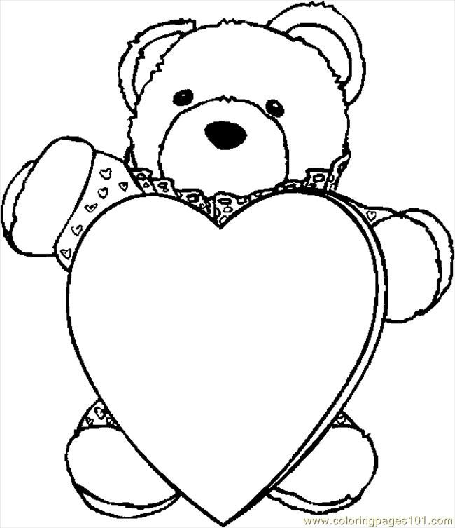Teddy Bears Printables Color Sheets Free Printable Coloring Page Bear With Heart 3 Hol Love Coloring Pages Heart Coloring Pages Valentines Day Coloring Page