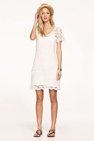 48654cbc9880 Ellos Collection Klänning i spets | Anna klänningar | White dress ...