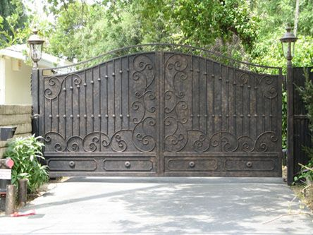 Wrought Iron Steel Custom Driveway Gates Wrought Iron Driveway Gates Wrought Iron Gates Iron Garden Gates