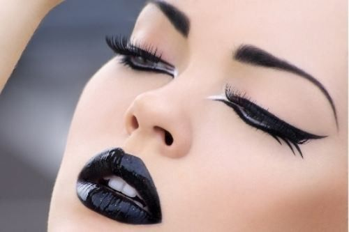 Black lipstick, there's just something about it. black-black-black