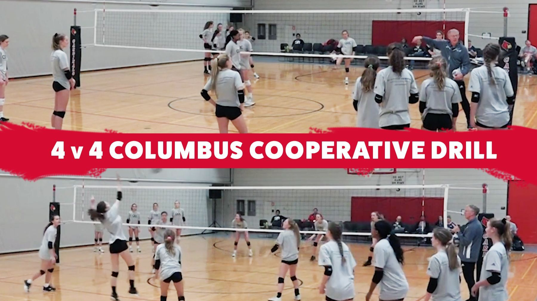 4 V 4 Columbus Cooperative Drill Coaching Volleyball Volleyball Training Volleyball Skills