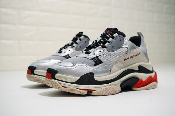 ec0f955d7491ee Balenciaga Triple S Trainer Silver Black 56W09O31081 2018 Discount Sneaker  Jordan Shoes For Sale