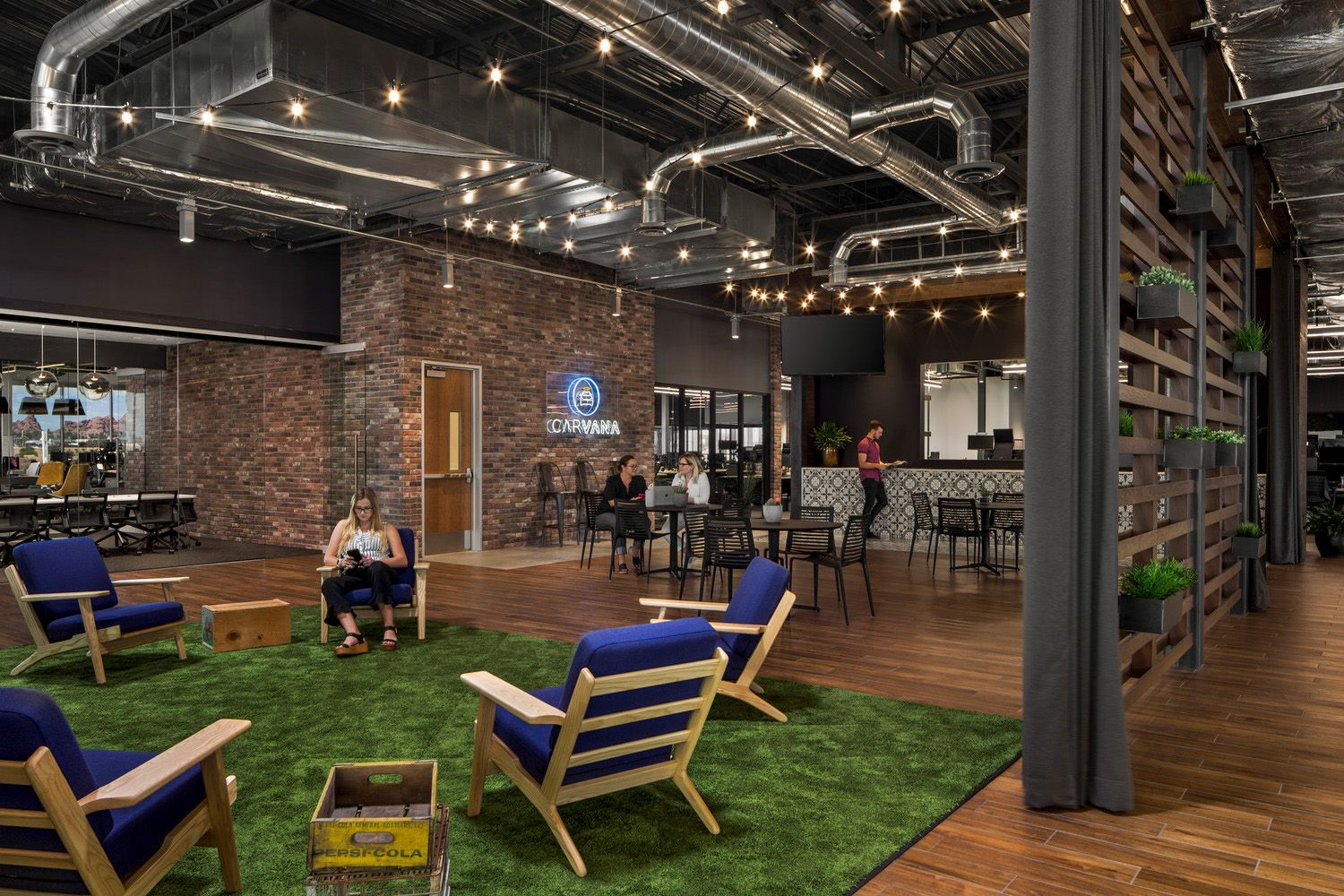 Office Tour Carvana Offices Tempe Rustic Industrial Office