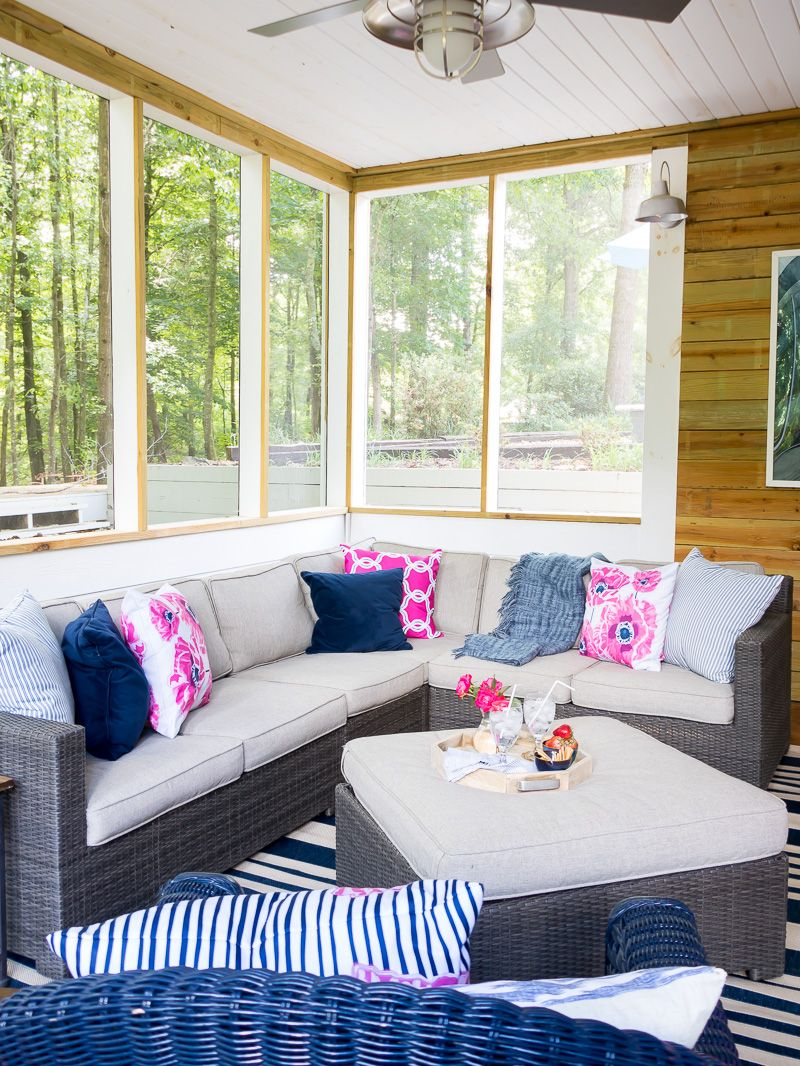 Using Pink Accents on the Summer Porch | Summer porch ...