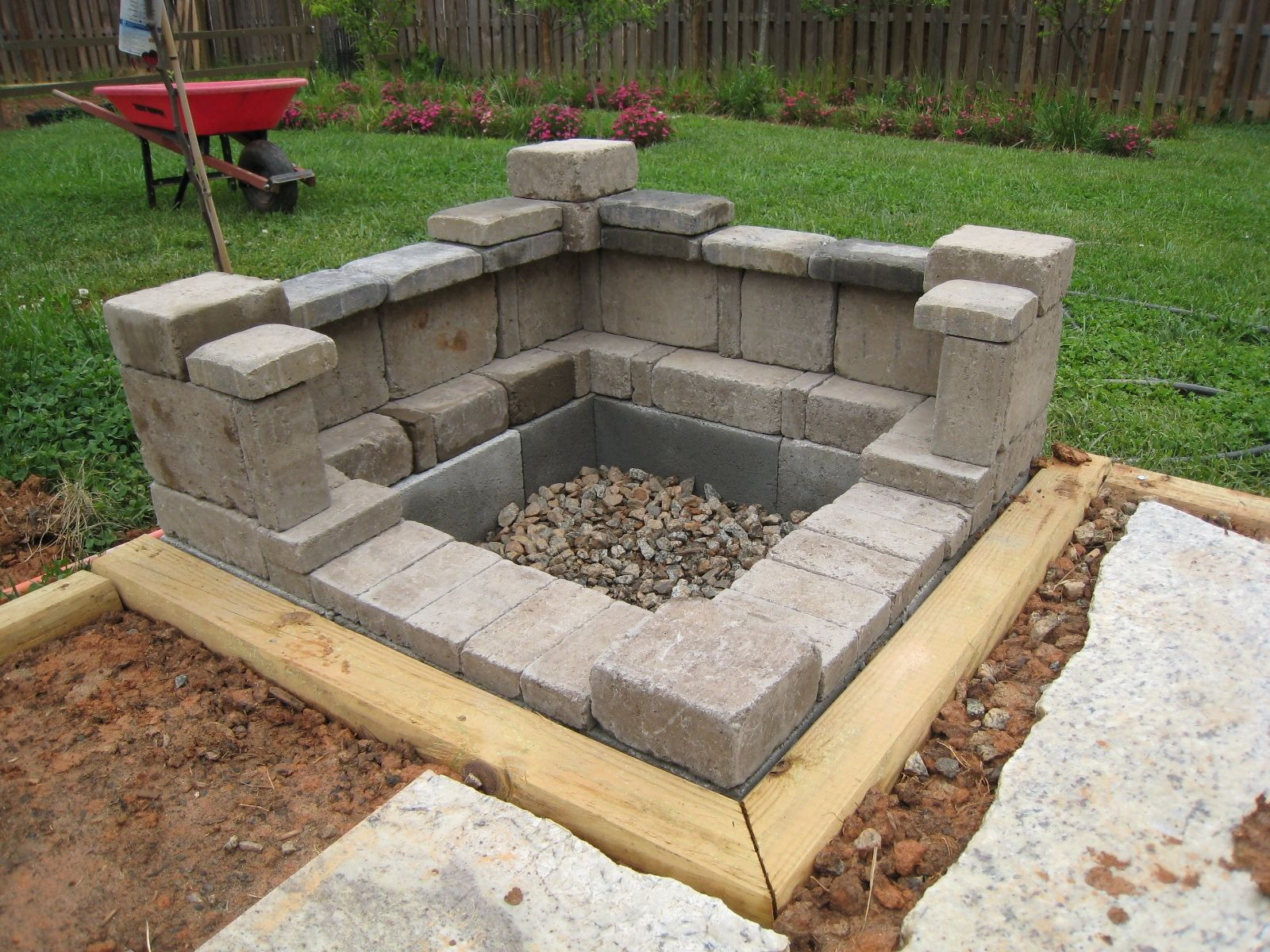 how to build an outdoor fireplace with cinder blocks ... on Outdoor Fireplace With Cinder Blocks id=23805