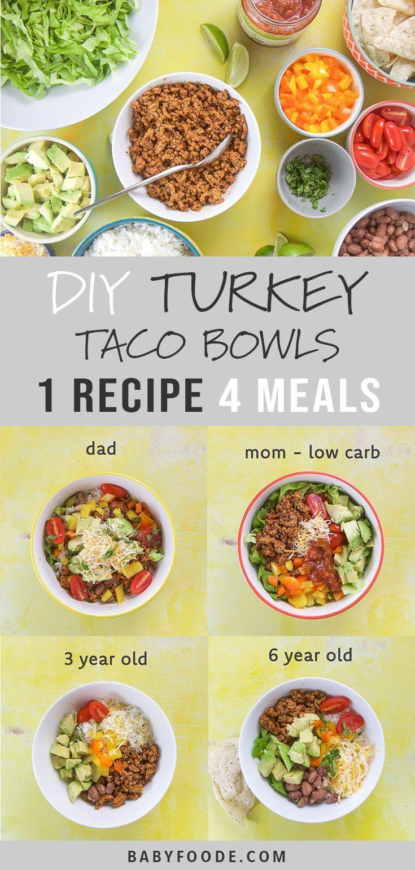 DIY Family Dinner - Turkey Taco Bowls images