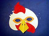 Masque de coq bricolage masque coq et poule - Masque canard a imprimer ...