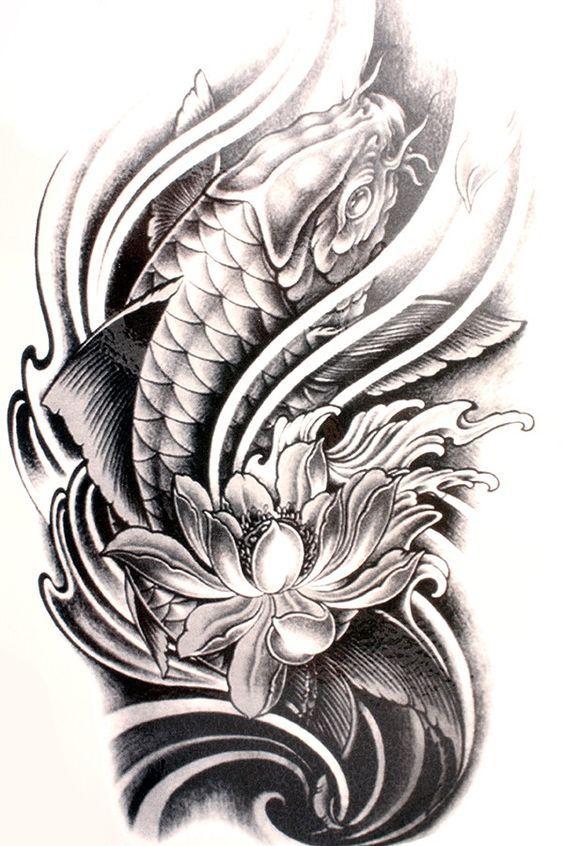 Diseno Tatuaje De Pez Coi Tatuajes De Pescado Koi Tatuaje Pez Koi Tatuajes Carpas Koi