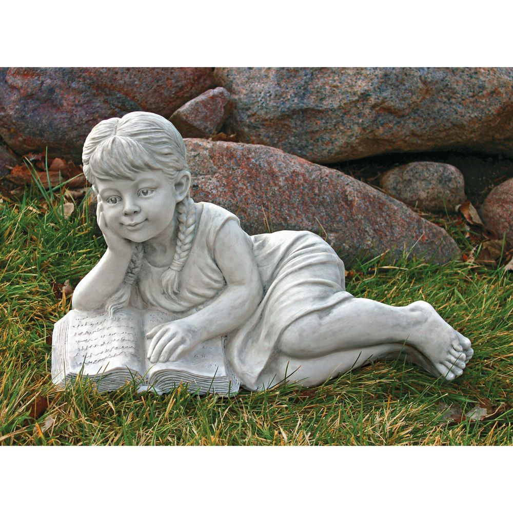 children garden statues. Little Girl Book Lover Sculpture Child Reading Garden Statue Children Statues A