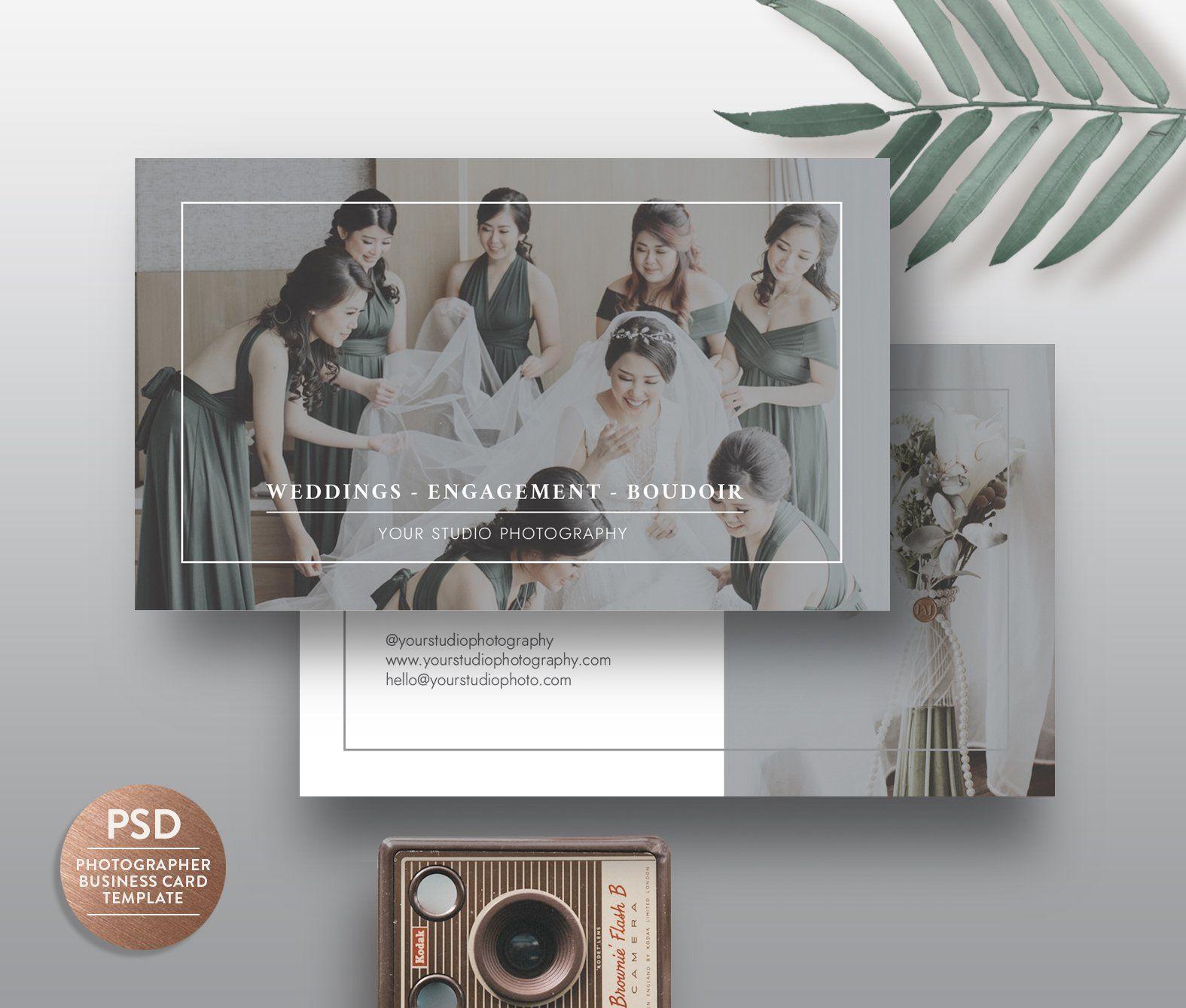 Business Card Template Bc005 Fotografia De Casamento Casamento Fotografia