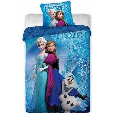 Disney Frozen Dekbedovertrek Elsa Anna Olaf 140 X 200 Cm Blauw