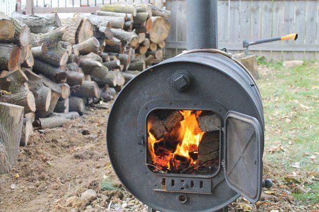 Building a Simple Barrel Stove | Barrel stove, Wood ...
