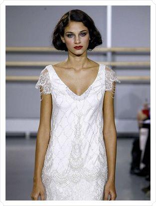 Glam Flapper Wedding Inspiration | Flapper wedding dresses, Wedding ...