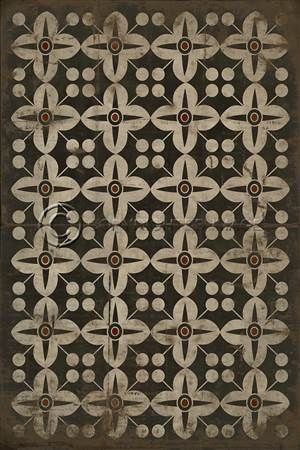 spicher & co. vinyl floor cloth pattern 3 oz | floor cloth, warm