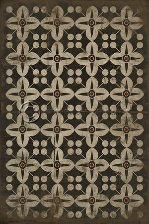 spicher & co. vinyl floor cloth pattern 3 oz | floor cloth, warm
