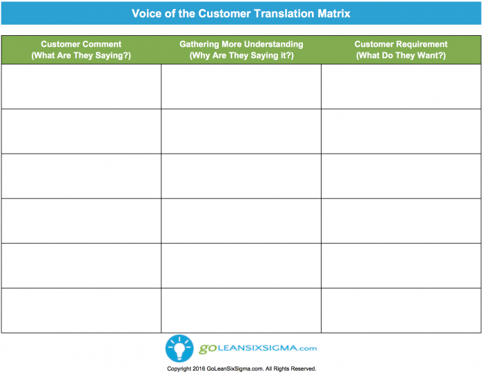 Voice Of The Customer Template | Voice Of The Customer Template Celo Yogawithjo Co
