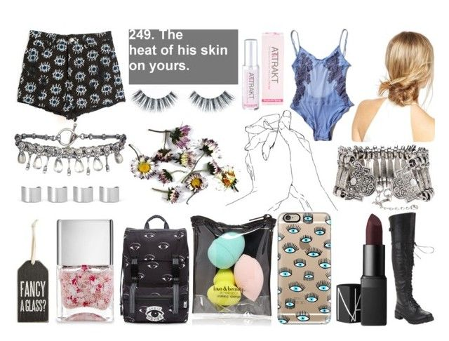 """""""I See U"""" by pikhaso ❤ liked on Polyvore featuring ASOS, Evil Twin, NARS Cosmetics, Casetify, AllSaints, Kenzo, Forever 21, Nails Inc., Primitives By Kathy and Maison Margiela"""