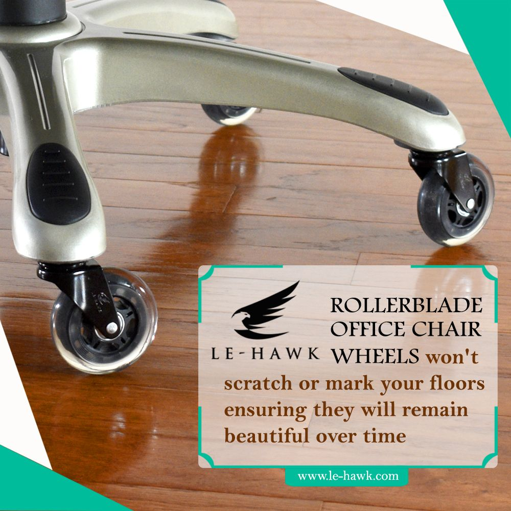 The Standard Plastic Chair Wheels Create All Sort Of Problems They Ll Damage Your Hardwood Floor Unless You Us Office Chair Wheels Caster Chairs Plastic Chair