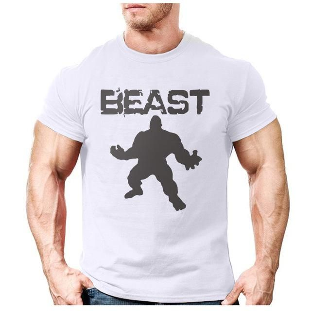 02c05e6d3 New Brand clothing Bodybuilding Fitness Men beast printed t-shirts Golds  Gorilla Wear tee shirts Stringer tops