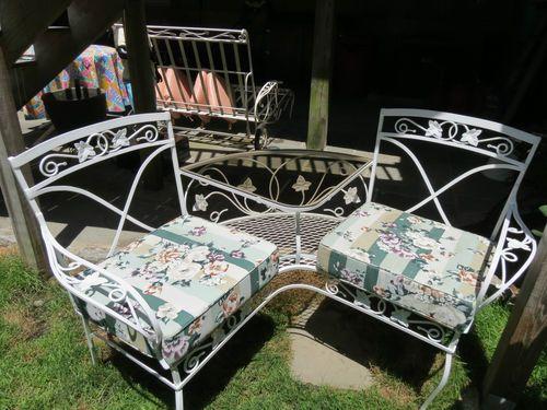 salterini teteatete settee offered on ebay for vintage patio iron
