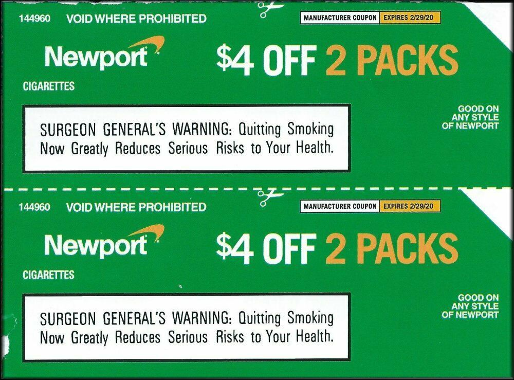 photo relating to Newports Cigarettes Coupons Printable titled Pin upon Newport cigarettes
