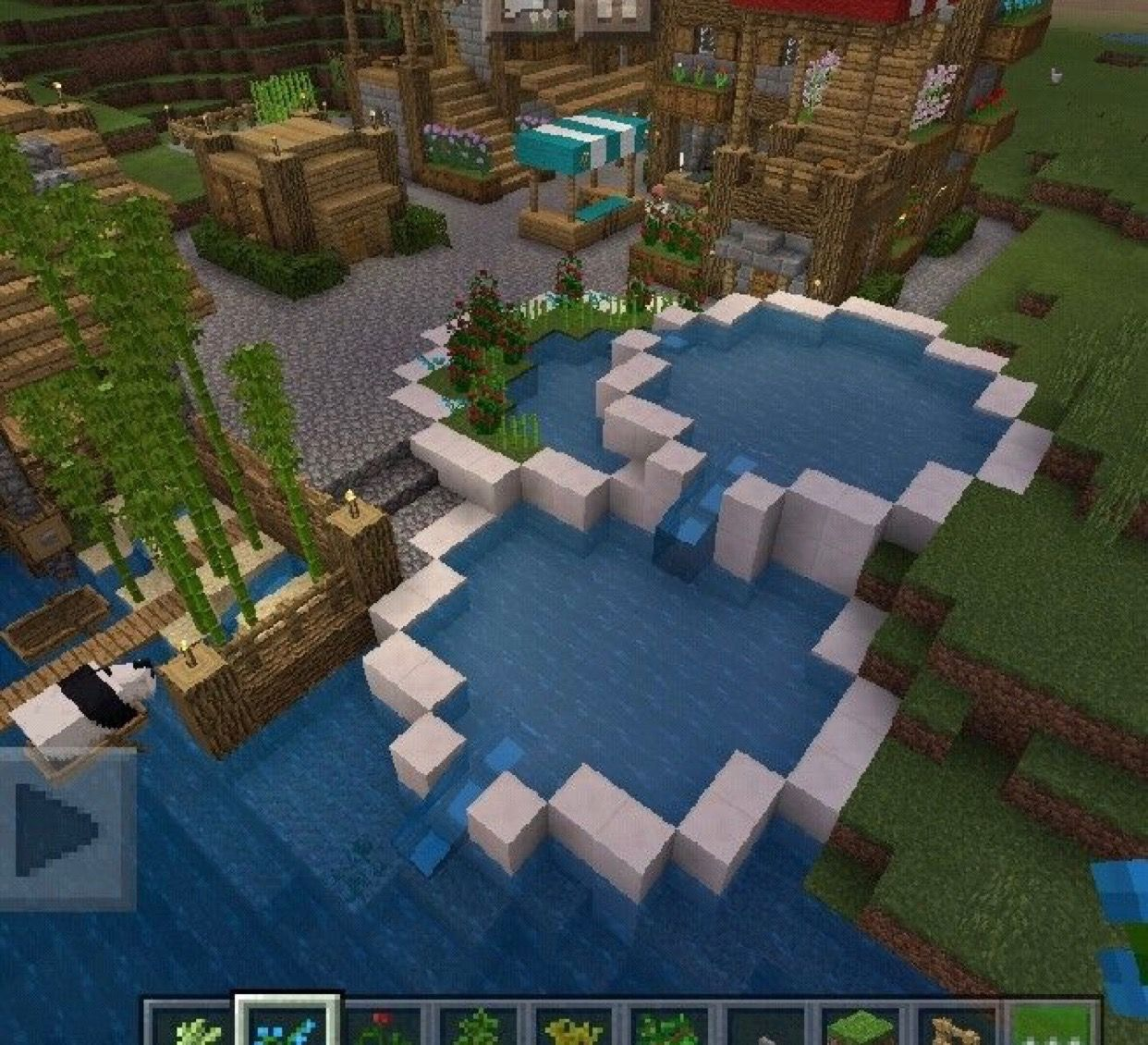 The House In The Background With Images Minecraft Houses